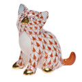 Herend Sitting Kitty Fishnet Rust 1.75 x 1.75 in SVH---15232-0-00