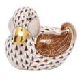 Herend Dapper Ducky Fishnet Brown 2.75 x 2.25 in SVHBR205464-0-00