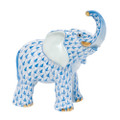 Herend Young elephant Fishnet Blue 3.5 x 3.75 in SVHB--05272-0-00