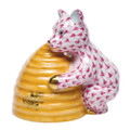 Herend Honey Bear Fishnet Raspberry 2.75 x 2.75 in SVHP--15500-0-00