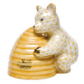 Herend Honey Bear Fishnet Yellow 2.75 x 2.75 in SVHJ--15500-0-00