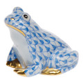 Herend Miniature Frog Fishnet Blue 1.5 in SVHB--15975-0-00