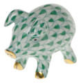 Herend Piglet Fishnet Green 1.5 x 1 in VHV---05356-0-00