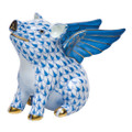 Herend When Pigs Fly Fishnet Blue 1.5 x 1 in SVHB--15299-0-00