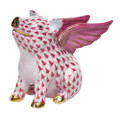 Herend When Pigs Fly Fishnet Raspberry 1.5 x 1 in SVHP--15299-0-00