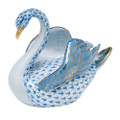 Herend Swan Fishnet Blue 4 x 3.5 in SVHB--05237-0-00