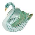 Herend Swan Fishnet Green 4 x 3.5 in SVHV--05237-0-00
