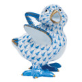 Herend Chicken Little Fishnet Blue 2 x 2.25 in SVHB--05131-0-00