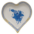 Herend Small Heart Tray Chinese Bouquet Blue 4x4 in AB----07703-0-00