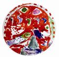 Bernardaud Marc Chagall The Hadassah Windows (1962) Coupe Salad Plate ZEBULON TRIBE 8.5 in