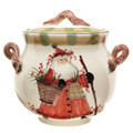 Vietri Old St. Nick Biscotti Jar 11x10 in OSN-7844
