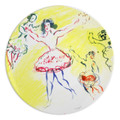 """Bernardaud Marc Chagall """"Swan Lake"""" Coupe Dinner Plate 10.2 in (1963)"""