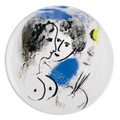 """Bernardaud Marc Chagall """"The Painter and the Palette"""" Coupe Dinner Plate 10.2 in (1952)"""