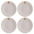 Juliska Acanthus Gold Cocktail Plates Set of Four 7.5 in KJ53SET/14