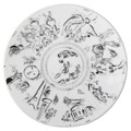 "Bernardaud Marc Chagall ""Ceiling of the Garnier Opera"" Coupe Salad Plate 8.3 in No.2 (1963)"