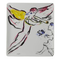 "Bernardaud Marc Chagall ""Red Angel"" (1963) Rectangular Tray 8.5x6.5 in."