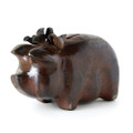 Jan Barboglio Petunia Pig Money Bank with Flower Crown 3.5x7x4.75 in 7139