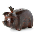Jan Barboglio Porky Pig Money Bank with Crown 3.5x7x5.25 in 7138