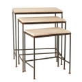 Jan Barboglio Alexander Nesting Tables Wood Top Set of Three 24, 21, 17 in h. 3618