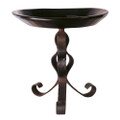 Jan Barboglio Primitive Bowl Side Table with Wooden Bowl 2557