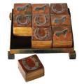 Jan Barboglio Horse Shoe Game Board 8x8x2.75 in 2943 195.188