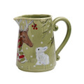 Casafina Deer Friends Pitcher 2 qt DF635-GRN