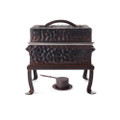 Jan Barboglio Hammered Chafer Square 6 qt 14x12x13 in 7702NHM