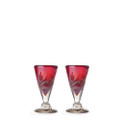 Jan Barboglio Lustre D'Pasion Cordial Set of Two 3x3x4 in 5413RD