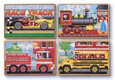 M&D - Vehicles Wooden Jigsaw Puzzles, 4-Twelve Piece