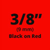 "3/8"" Black on Red ptouch label"