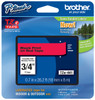 Brother TZe-441 3/4 In. Black On Red P-touch Tape, TZ-441