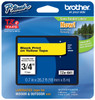 Brother TZe-641 3/4 In. Black On Yellow P-touch Tape, TZ-641