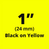 "1"" Black on Yellow ptouch label"
