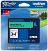 Brother TZe-741 3/4 In. Black On Green P-touch Tape, TZ-741