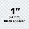 """1"""" Black on Clear D1 tape"""