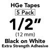 "1/2"" HGe extra strength black on white"