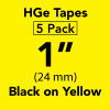 "HGE 1"" Black on Yellow"