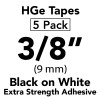 "3/8"" HGe extra strength black on white"