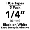 "1/4"" HGe extra strength black on white"