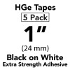 "1"" HGe extra strength black on white"
