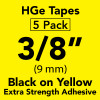 "HGe 3/8"" extra strength Black on Yellow"