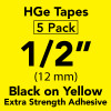 "HGe 1/2"" extra strength Black on Yellow"