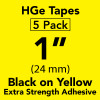 "1"" HGe extra strength Black on yellow"