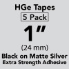"HGe 1"" extra strength Black on Matte Silver"