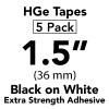 "HGES 1 1/2"" black on white"