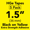 "HGE 1 1/2"" extra strength black on yellow"