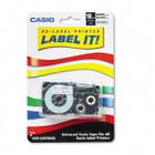 Casio XR18WES Black on White Tape Cassette