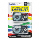 Casio XR9SR2S Black on Silver Tape Cassettes