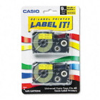 Casio XR9YW2S Black on Yellow Tape Cassettes