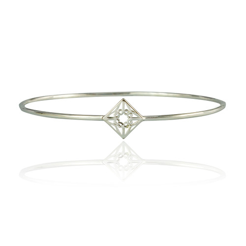 Lao Bangle - Sterling Silver